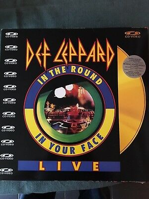 Laserdisc DEF LEPPARD IN THE ROUND IN YOUR FACE JAPANESE IMPORT PAL