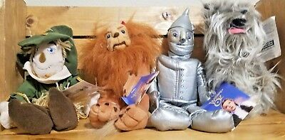 Set Of 4 Warner Brothers Wizard Of Oz Beanie Babies Plush DOLLS 1998