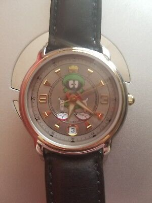 RARE Warner Bros Studio Store MARVIN THE MARTIAN Watch FOSSIL WB Looney Tunes