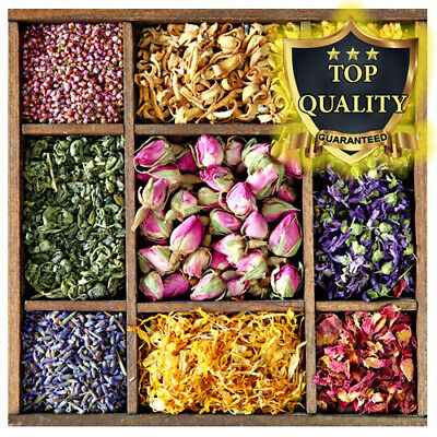 Dried Flowers Dry Petals - 39 Types! Confetti, Tea  (Offer 4 for 3 and Free P&P)