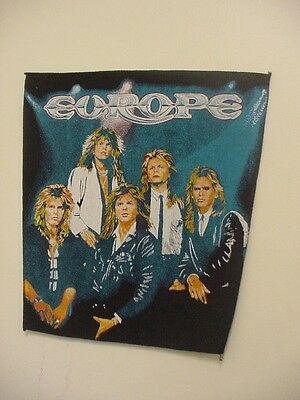 """"""" EUROPE """"  VINTAGE BACK PATCH  .ROCK BAND . """" FORCE """" 1970's"""