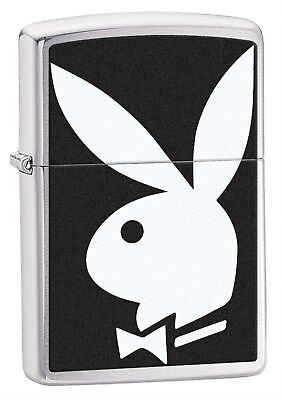 Zippo Lighter: Playboy Bunny - Brushed Chrome 28269