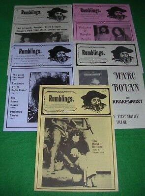rumblings t.rex marc bolan fanzine magazine job lot 1995/96 five issues 14 to 18