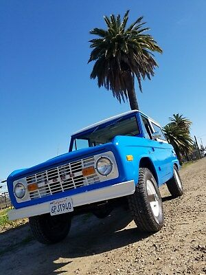 1975 Ford Bronco  Uncut 1975 Ford Bronco California Ford Blue Classic Early