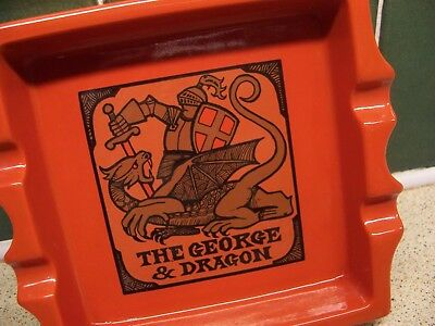 Carlton Ware Made In England Trade Mark The George And Dragon Ashtray