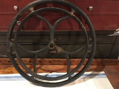 Antique Treadle Sewing Machine Cast Iron Drive Pulley Fly Wheel Steampunk Part