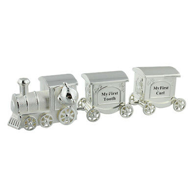 Silver Plated Loco Train and Carriage My First Tooth My First Curl Set