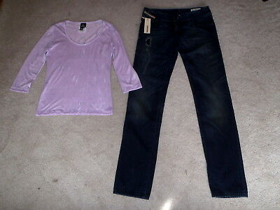 Brand New Ladies Diesel Jeans And Versace Top - Excellent Cond.