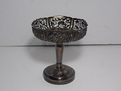 Antique Chinese .900 Sterling Silver Ornate Footed Compote - STUNNING!!!
