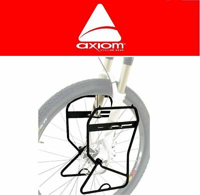 Axiom Journey Suspension & DISC Lowrider Front Pannier Rack Touring Fit All Bike