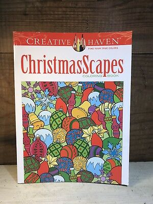 Creative Haven Christmas Scapes Adult Coloring Book