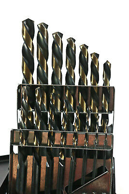 "15 PC LEFT-HAND DRILL BIT SET INDEX 1/16"" TO 1/2"" BY 32nds  HUOT USA COBALT"