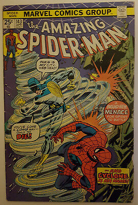 Amazing Spider-Man # 143  1st appearance of CYCLONE! April 1975 Marvel Comics