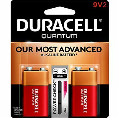 Duracell 665211 9-Volt Alkaline Battery, 2 Pack