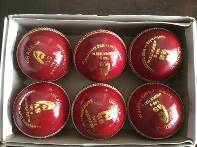 Cricket Ball 6 Pack 4 Piece 156gm Red Grade A