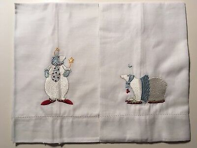 POLAR BEAR PALS * PAIR of Krinkles GUEST TOWELs * Patience Brewster * NEW