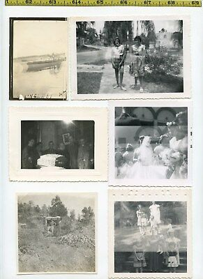 (17) Vintage photo lot / DOUBLE EXPOSURES Weird Time Warps OLD SNAPSHOTS 1925-65