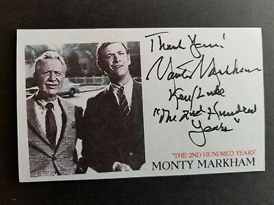 """The 2nd Hundred Years"" Monty Markham Autographed 3x5 Index Card"