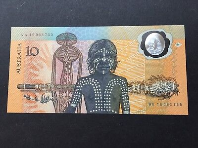 1988 Bicentenary $10 AA 16 Polymer Note UNC
