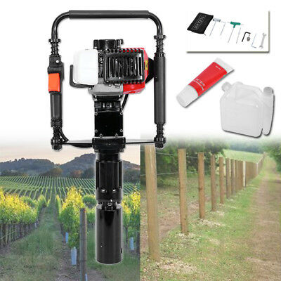 Portable Powered Gasoline Wood T-Post Driver Orchard Fence Timber Pile Tool