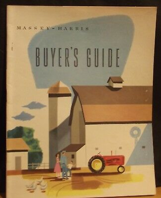 MASSEY HARRIS Buyers Guide, Pacer 33 44 Special 55 VERY GOOD RARE, ORIGINAL 1954
