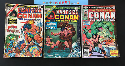CONAN The Barbarian King-Giant-Size #1-2-12 1974-79 Lot | 1st App BELIT real651