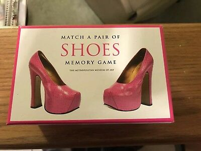 Match A Pair Of Shoes - Memory Game Metropolitan Museum of Art 50 Cards