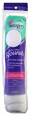 Swisspers Cotton Rounds 80 Count 100% Cotton (6 Pack)