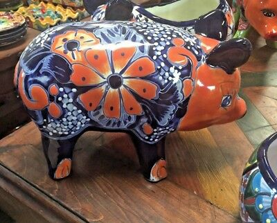 TALAVERA MEXICAN POTTER - ANIMALS - CUTE COLORFUL PIGS (Assorted Color)
