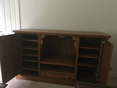 Recycled Timber Entertainment and Storage Unit