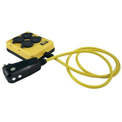 Yellow Jacket 2516 14/3 GFCI Protected 4-Outlet Power Box with 6-Foot Cord New