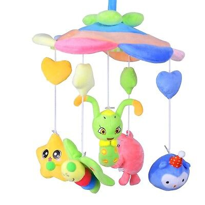 Baby Crib Musical Mobile Plush Cot Stoller with Hanging Cartoon Bed Bell ... New
