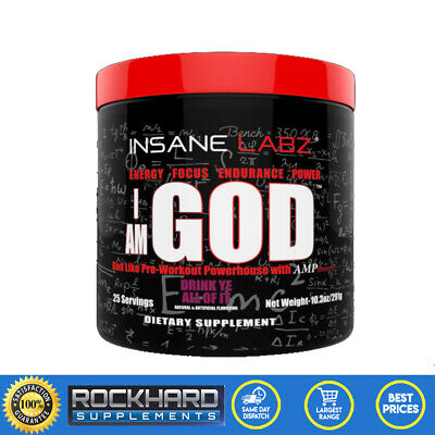 Insane Labz I Am God Pre Workout 25 Serves Energy Creatine Beta Alanine