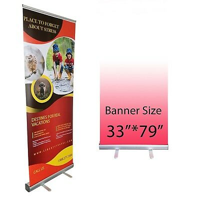 Retractable Roll Up Banner Stand Promotion Sign Holder for Trade Show, Co... New
