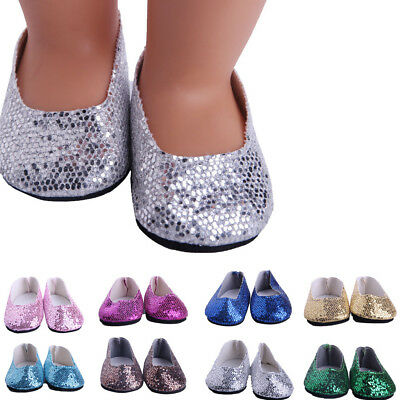 Glitter Shoes Dress Shoe ACCY For 18 inch Our Generation For American Girl Doll
