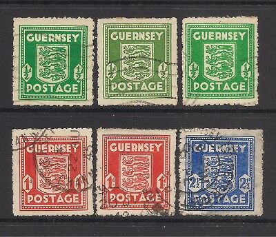 GUERNSEY  wartime stamps  FU