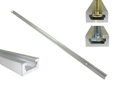 """24"""" Aluminum T Track 3/4"""" by 3/8"""" Slot, Accepts 1/4"""" Hex Bolts, 1/4"""" or 5... New"""