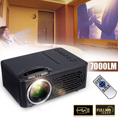 7000LM FHD 3D 1080P LED Projecteur VideoProjecteur Multimédia Home Cinéma USB/TV