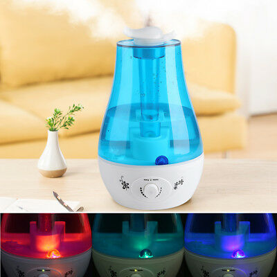 3L LED Ultraschall Luftbefeuchter Aroma Diffuser Aromatherapie Duftlampe L-T DHL