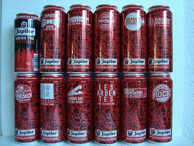 12 Can Belguim [Music Festival Beer Can Set[ complete set], excellent condition