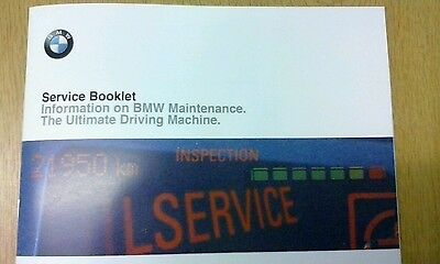 Bmw Service History Book Brand New & Genuine, For All Petrol And Diesel Models !