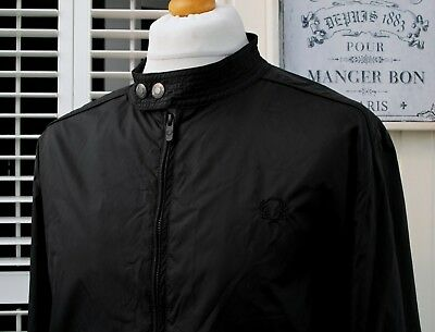 Fred Perry Black Nylon Harrington Jacket - XL - Ska Mod Scooter Casuals Skins