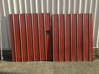 Gates - Dual Swinging Metal Driveway Gates - Gap 2.9m Wide