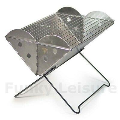 UCO BBQ - Portable Folding Flatpack Stainless Steel Barbeque Grill and Firepit