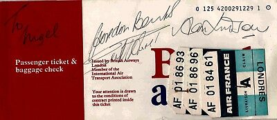 1966 World Cup Authentic Signed British Airways Ticket Banks Aftal#198