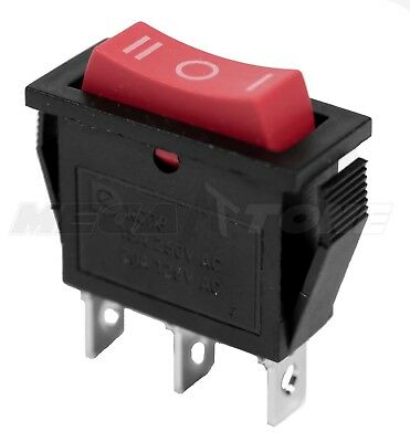 NEW SPDT ON-OFF-ON Rocker Switch w/Red Actuator KCD3 20A/125VAC - USA SELLER!!!