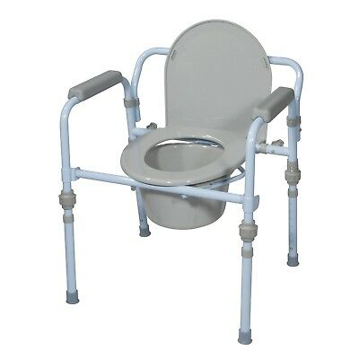 Folding Bedside Commode Chair with Bucket and Splash Guard for Men Adult Women