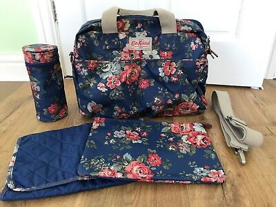 Cath Kidston Rose Baby Nappy Changing Bag inc All Accessories