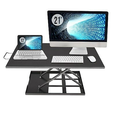 Standing Desk Converter Adjustable Height - Sit To Stand Up Desktop Table... New