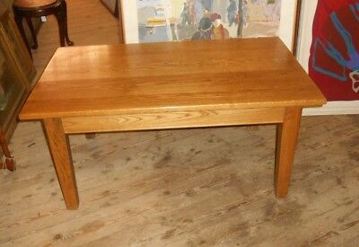 Old Charm Solid Oak Coffee Table large Arts and Crafts Style